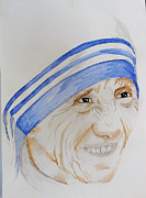 Mother Teresa Paintings - Mama T by Courtney James