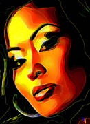 Orange Digital Art Originals - Mamacita by Byron Fli Walker