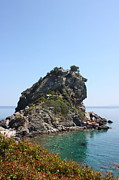 Skopelos Metal Prints - Mamma Mia Church Skopelos Metal Print by Yvonne Ayoub