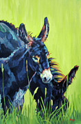 Donkey Paintings - Mammas Boy by Patricia A Griffin