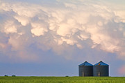 Silos Posters - Mammatus Country Landscape Poster by James Bo Insogna