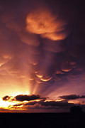 Mammatus Sunset Over Colorado Print by Jason Politte