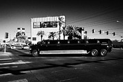 Limo Posters - mammoth f650 stretch limo on Las Vegas boulevard Nevada USA Poster by Joe Fox