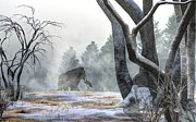 Paleoart Digital Art - Mammoth in the Distance by Daniel Eskridge