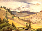 Beautiful Vistas Painting Posters - Mammoth Valley Poster by Art By Tolpo Collection