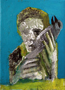 Dead People Paintings - Man and Dead Bird by Edgeworth Johnstone