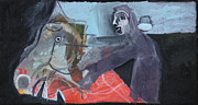 Portrait Paintings - Man and Horse by Edgeworth Johnstone