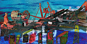 Technical Mixed Media Metal Prints - Man and Machines Metal Print by R Kyllo