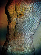 Nude Male Prints - Man Body Print by Mark Ashkenazi