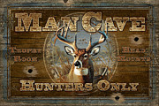 """man Cave"" Painting Framed Prints - Man Cave Deer Framed Print by JQ Licensing"