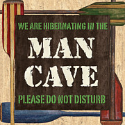 Man Cave Do Not Disturb Print by Debbie DeWitt