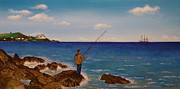 Beata Dagiel - Man Fishing