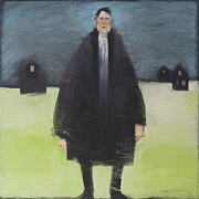 Caricature Paintings - Man In Black Coat by Tim Nyberg
