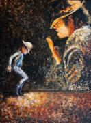 Michael Jackson Metal Prints - Man In The Mirror Metal Print by Nik Helbig