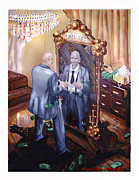 Born Again Digital Art Framed Prints - Man In The Mirror Framed Print by Ricardo Colon