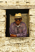Guatemalan Home Posters - Man in Window P1070304 Poster by OpposableThumbnails EyeBrowses