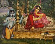 Divine Framed Prints - Man Lila Framed Print by Vrindavan Das