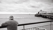 Duotone Photos - Man looks out to sea by Jimmy Karlsson