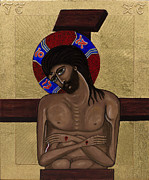Egg Tempera Paintings - Man of Sorrows II by Ilse Wefers