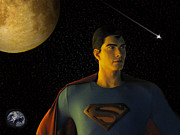 Comic Mixed Media Prints - Man of Steel Print by David Dehner