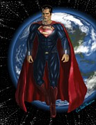 Krypton Framed Prints - Man Of Steel Framed Print by Eric Mark Thompson