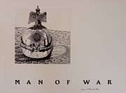 Eagle Drawing Drawings Originals - Man of War by Susan Williams Phillips