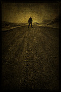 Road Travel Photo Posters - Man on A Mission Poster by Evelina Kremsdorf