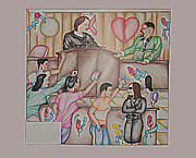Trial Drawings Framed Prints - Man on Trial Framed Print by Harry Saffold Jr