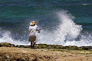 Fishing Photo Originals - Man versus the Sea by Mike  Dawson