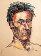 Featured Pastels - Man With Shock Of Hair by Dennis Lansdell