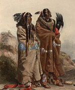 Blanket Digital Art Framed Prints - Manan Indians 1843 Framed Print by Karl Bodmer