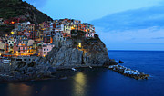 Alex Sukonkin Framed Prints - Manarola at dusk Framed Print by Alex Sukonkin