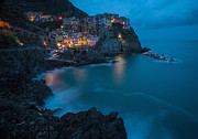 Skies Prints - Manarola Calm Serenity Print by Mike Reid