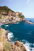 North Italian Town Framed Prints - Manarola in the Cinque Terre Italy Framed Print by Matteo Colombo
