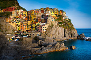 Tourists Framed Prints - Manarola Framed Print by Inge Johnsson
