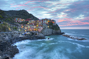 Cinque Terra Prints - Manarola Morning light Print by Rob Greebon