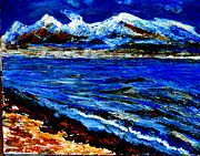 Himalayas Paintings - Manas Sarovr Lake-16 by Anand Swaroop Manchiraju