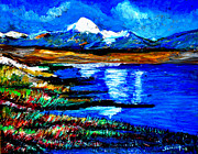 Himalayas Paintings - Manas Sarovr Lake-18 by Anand Swaroop Manchiraju