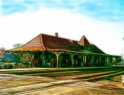 Paul Van Scott Framed Prints - Manassas Train Station Framed Print by Paul Van Scott