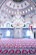 Persian Carpet  Metal Prints - Manavgat Mosque Interior 01 Metal Print by Antony McAulay