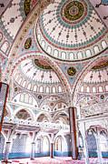 Manavgat Mosque Interior 02 Print by Antony McAulay