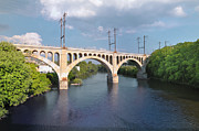 Schuylkill Digital Art Prints - Manayunk Rail Road Bridge Print by Bill Cannon