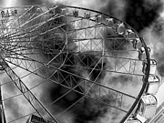 Amusements Prints - Manchester Wheel 2 Print by Malcolm Suttle