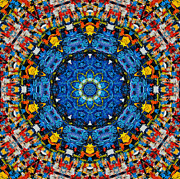Flower Kaleidoscopes Prints - Mandala 1 Print by Ana Maria Edulescu