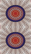 Spiritual Metal Prints - Mandala 10 for iPhone Double Metal Print by Terry Reynoldson