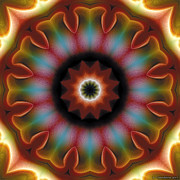 Tibetan Art Prints - Mandala 101 Print by Terry Reynoldson