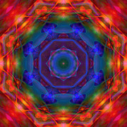 Stuart Turnbull Metal Prints - Mandala 11 Metal Print by Stuart Turnbull