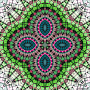 Abstract Image Prints - Mandala 111 Print by Terry Reynoldson