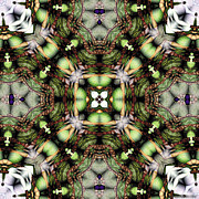Kaleidoscope Metal Prints - Mandala 116 Metal Print by Terry Reynoldson