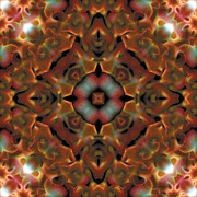 Kaleidoscope Framed Prints - Mandala 119 Framed Print by Terry Reynoldson